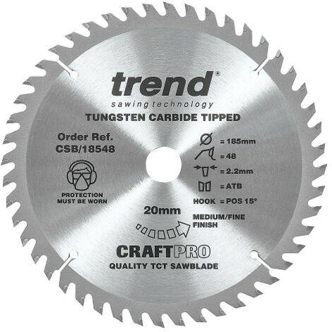 Trend Craft Saw Blade 185mm X 48 Teeth X 20mm