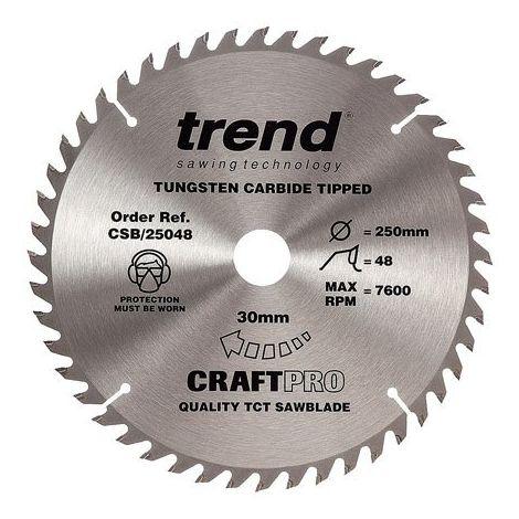 Trend Craft saw blade 250mm x 48 teeth x 30mm