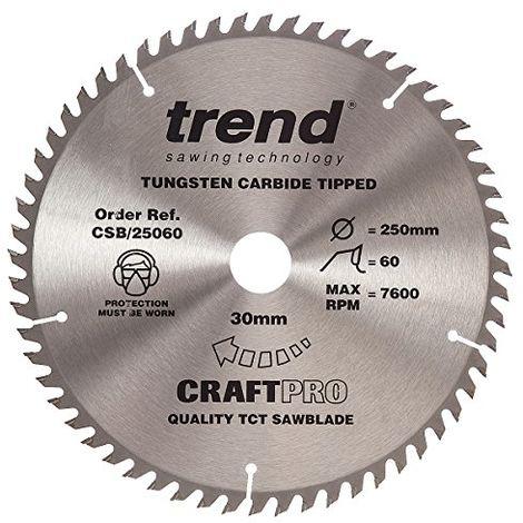 Trend Craft Saw Blade 250mm X 60 Teeth X 30mm