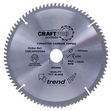 Trend Craft saw blade aluminium and plastic 216mm x 64 teeth x 30mm