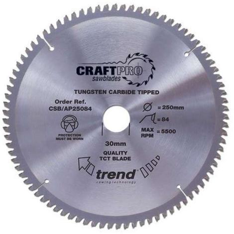 Trend CSB/AP25084 Craft Blade Tcp 250mm X 84 X 30mm