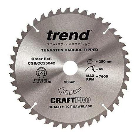 Trend CSB/CC25042 TCT Craft Saw Blade Crosscut 250mm x 42T x 30mm