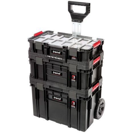 Trend Modular Storage Compact Cart Set 3pc