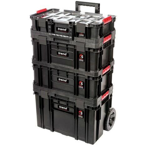 Trend Modular Storage Compact Cart Set 4pc