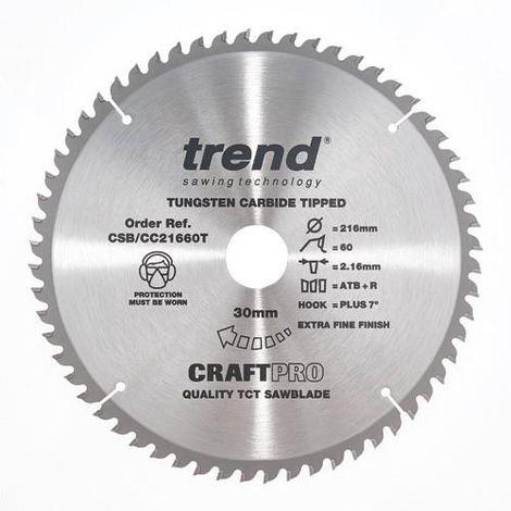 TREND SAW BLADE CROSSCUT 216 X 60T X 30