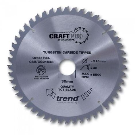 TREND SAW BLADE CROSSCUT 260 X 24T X 30