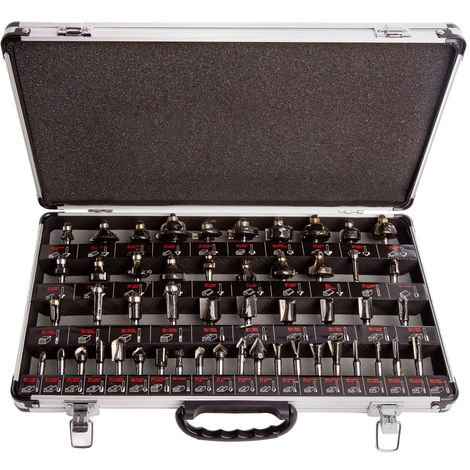 """main image of """"Trend SET/SS50X1/4TC 1/4"""" Shank Router Cutter 50 Pieces Set"""""""