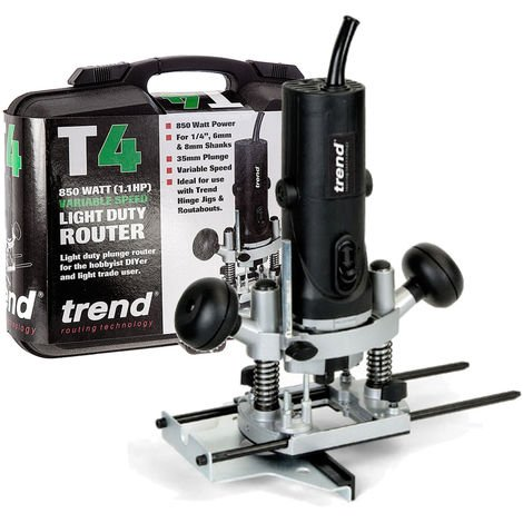 """Trend T4ELK 115V 1/4"""" Variable Speed Router 850W c/w Kitbox"""