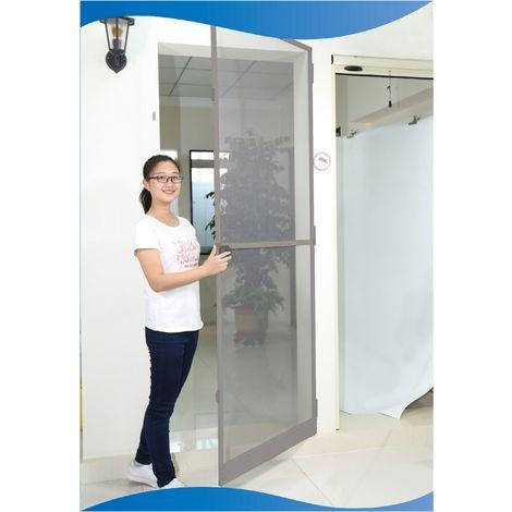 TrendLine Insektenschutz Tür 100 x 215 cm ,braun