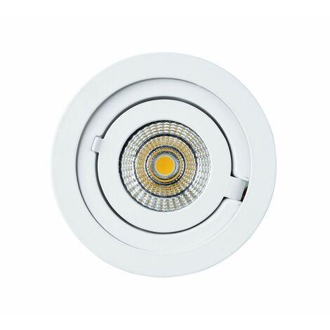 TrendLine LED Einbauleuchte San Jose weiß, schwenkbar, dimmbar stufenlos