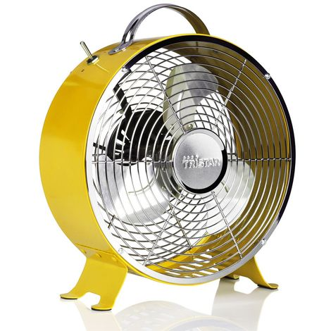 Trendy rétro fan en jaune VE -5964