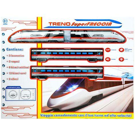 """main image of """"Trenino Elettrico Con Suoni E Luci Kids Joy Treno Super Freccia Bianco"""""""