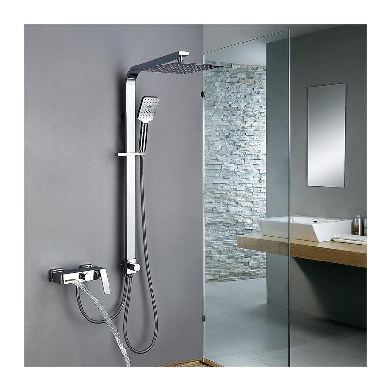 Trennbar Duschsystem mit Messing Duschpaneel Duscharmatur Regendusche mit Armatur Wasserhahn 3 ...