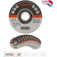 Trennscheiben (115 mm, 50 - 400 Stück, EN 12413) Flexscheiben Inox Edelstahl Extradünn Metall