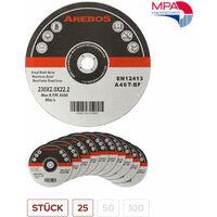 Trennscheiben (125 mm, 25 - 100 Stück, EN 12413) Flexscheiben Inox Edelstahl Extradünn Metall
