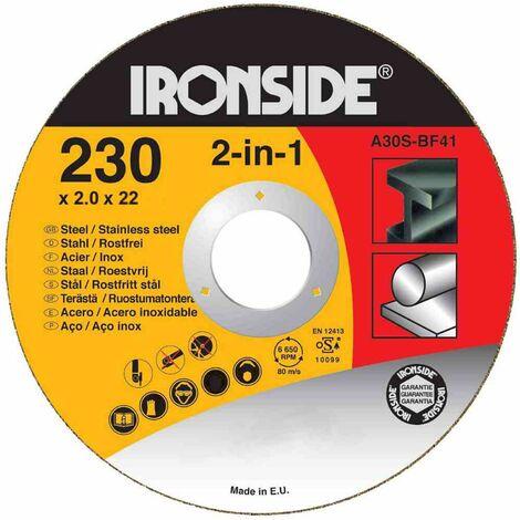 Trennscheiben 230x2,0x22mm für Stahl + Inox Schruppscheiben Schleifscheiben TOP