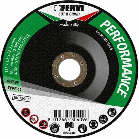 TRENNSCHEIBEN FUR METALL 230x3x22 MM A-30-R-BF 80 PERFORMANCE FERVI MTD6230/3.0