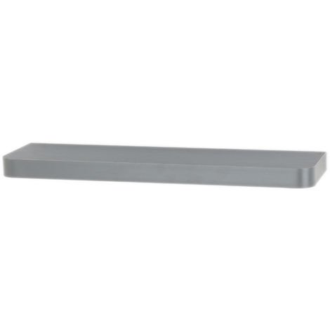Trent Narrow Floating Shelf Kit in Matt Grey, 800mm x 145mm