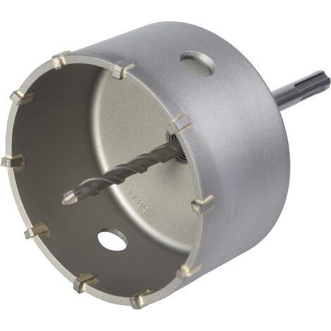 Trépan Ø 105 mm, pour Matériaux Durs, avec Foret Centreur SDS-Plus, Profondeur de Coupe 46 mm - wolfcraft 5490000