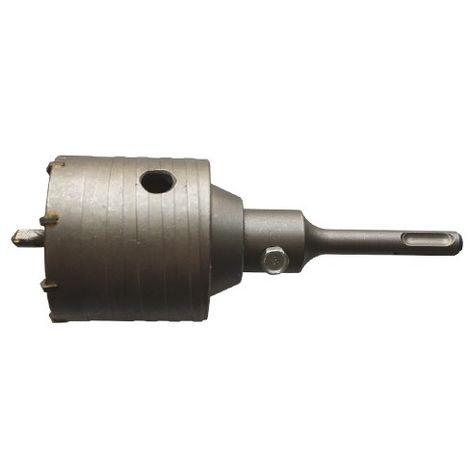 Trépan carbure SDS+ HM D. 100 mm Ht. 60 mm pour béton - 64.100 - Leman