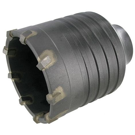 Trépan carbure SDS Max cône 1/8 béton D. 100 mm Ht. 75 mm - 74.100 - Leman - -