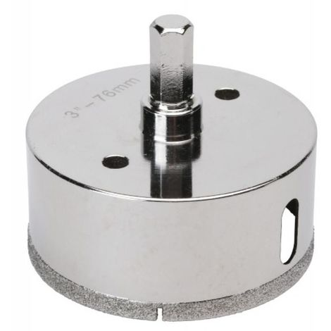 Trépan diamant 6 pans diamètre 76 mm
