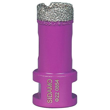 Trépan diamant à sec pour meuleuse M14 - D. 22 mm LU 35 mm - Céramique/Grès/Granit