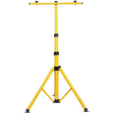 Trépied pour éclairage professionnel V-tac VT-41150 - convient à max. 2 lampes de travail - jaune