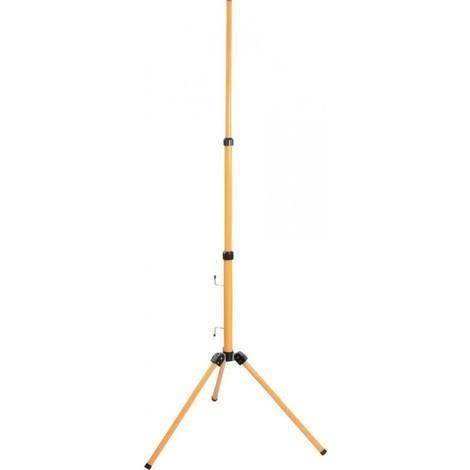 Trépied pour projecteur LED, halogène, réglable jusqu'à 1,80 m, jaune, 46650 - as – Schwabe