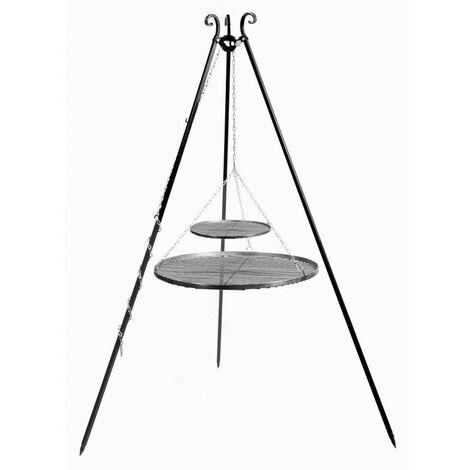 Trépied VIKING avec double grille en acier
