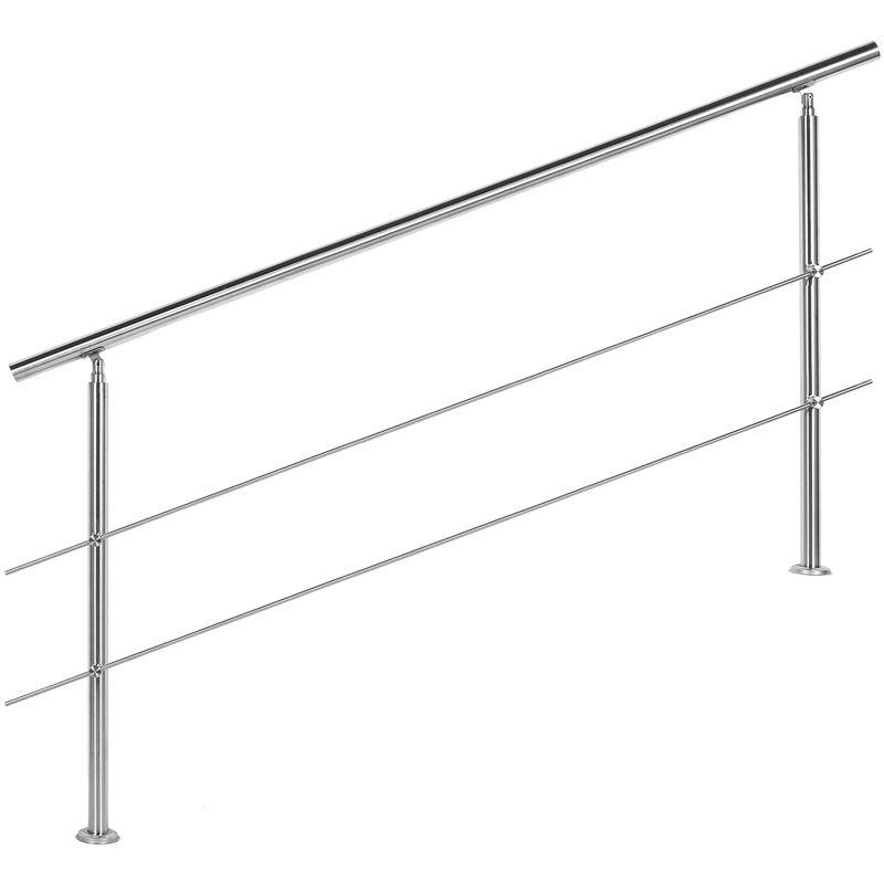 50cm Edelstahl Geländer Wandhandlauf V2A Ø42mm Treppenhandlauf Balkon 2 Halter