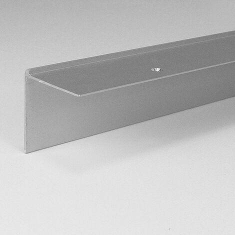 """Treppenkante """"Berrie"""" / Treppenkantenprofil / Winkelprofil, konfigurierbar, Breite: 40 mm, Höhe: 40 mm, Einfasshöhe 3 - 5 mm aus Aluminium eloxiert, gebohrt, von Auer Metall"""