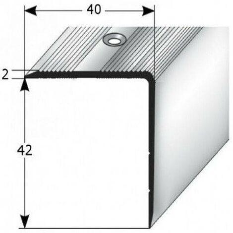 """Treppenkante """"Forli"""", Treppenkantenprofil / Winkelprofil (Größe 40 mm x 42 mm) aus Aluminium eloxiert, gebohrt, von Auer Metall"""