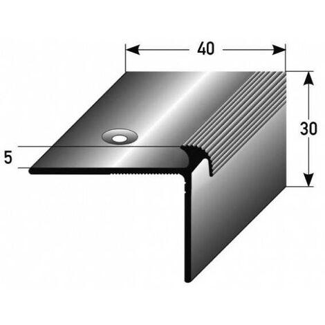 """Treppenkante """"Naro"""" / Treppenkantenprofil / Winkelprofil (Größe 40 mm x 30 mm x 5 mm) aus Aluminium eloxiert, gebohrt, von Auer Metall"""