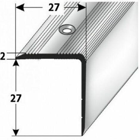 """Treppenkante """"Orvieto"""" / Treppenkantenprofil / Winkelprofil (Größe 27 mm x 27 mm) aus Aluminium eloxiert, gebohrt, von Auer Metall"""