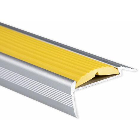 Treppenkantenprofil | Power Grip | Gummieinlage | Selbstklebend