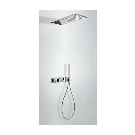 TRES 20725202 SLIM Kit Ducha termostático Empotrado Cromo