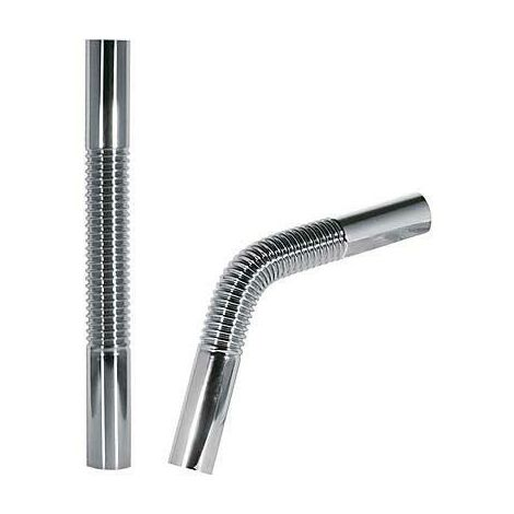 TRES 913463330 Tubo coarrugado flexible de latón para sifón botella 300mm