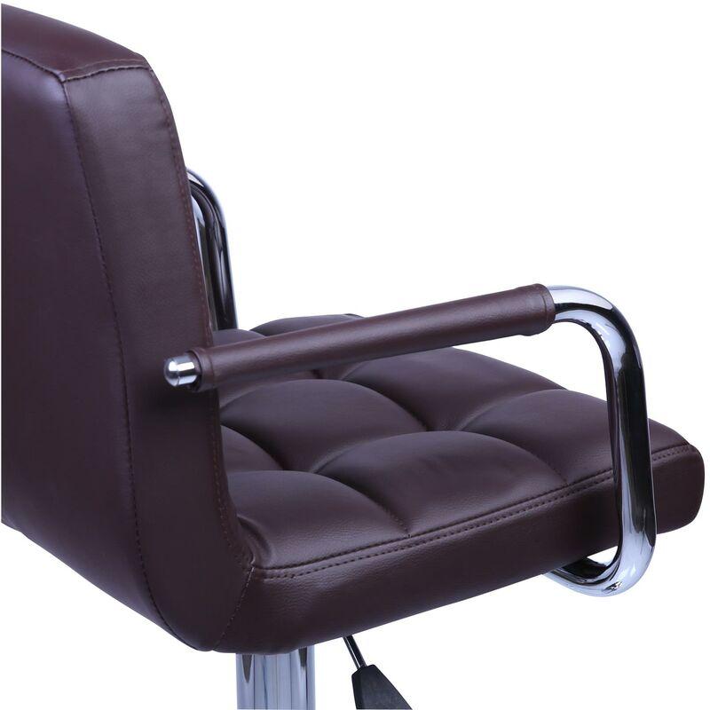 Rotazione Libera a 360/° TRESKO 2 x Sgabelli da Bar e da Cucina la Regolazione in Altezza dei sedili 62,0-82,5cm Marrone Cromato 8 Colori Diversi Sgabello Lounge con Schienale e braccioli