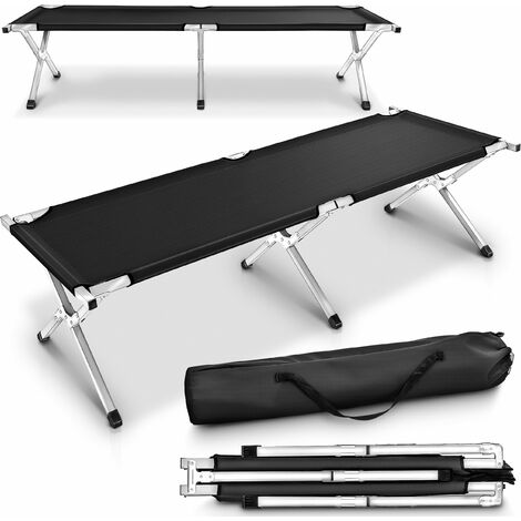 TRESKO Cama Plegable de Camping XL | Camilla para Acampar | catre portátil para Invitados | Tumbona para Exterior e Interior