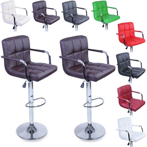 TRESKO® Lot de 2 Tabourets de bar Chaise de bar Chaise Fauteuil Bistrot lounge