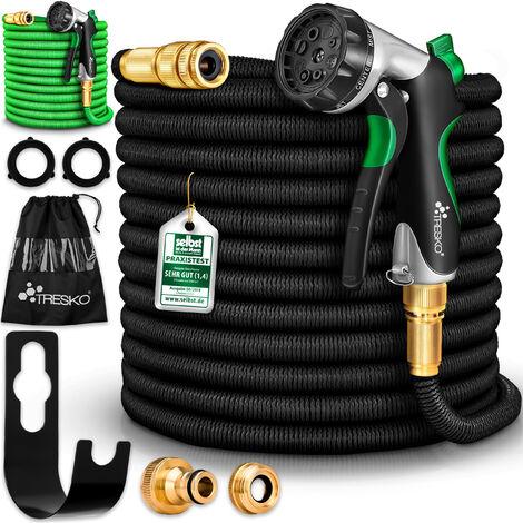 TRESKO® Premium Gartenschlauch 7,5 - 30m Flexibler Wasserschlauch dehnbarer Flexischlauch