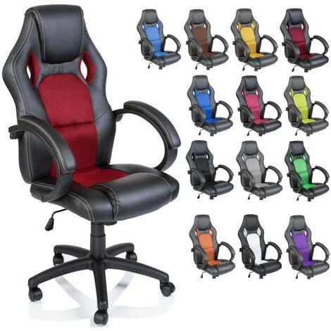 TRESKO® Racing Drehstuhl Bürostuhl Chefsessel in 14 verschiedenen Farben