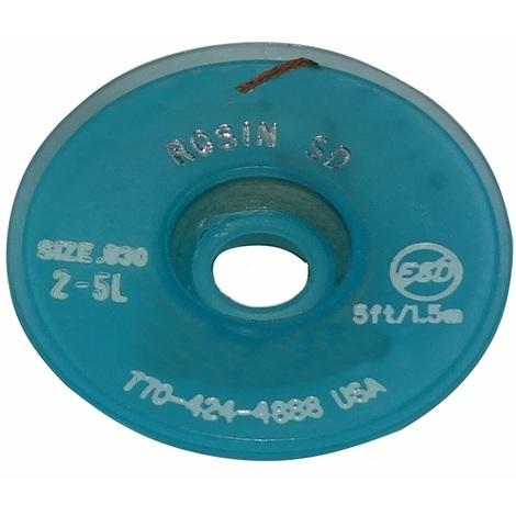 Tresse ruban bande à dessouder dessoudage cuivre 0.76mm/1.5m flux colophane