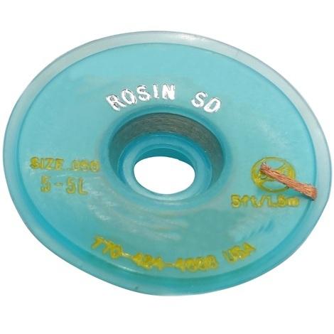 Tresse ruban bande à dessouder dessoudage cuivre 1.27mm/1.5m Flux colophane