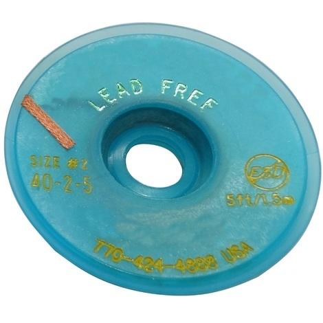 Tresse ruban bande à dessouder dessoudage cuivre 1.5mm/1.5m Flux No Clean Sans Plomb