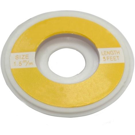 Tresse ruban bande à dessouder dessoudage cuivre 1.5mm/1.6m Flux