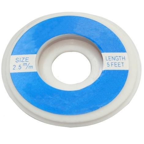 Tresse ruban bande à dessouder dessoudage cuivre 2.5mm/1.6m Flux