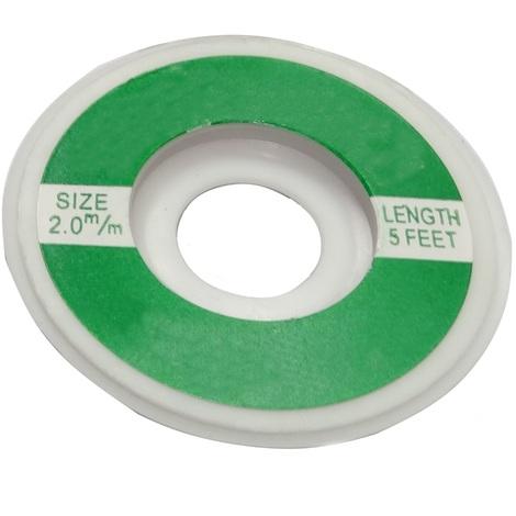 Tresse ruban bande à dessouder dessoudage cuivre 2mm/1.6m