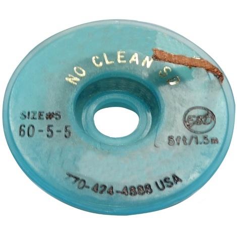 Tresse ruban bande à dessouder dessoudage cuivre 3.7mm/1.5m Flux No Clean sans halogènes